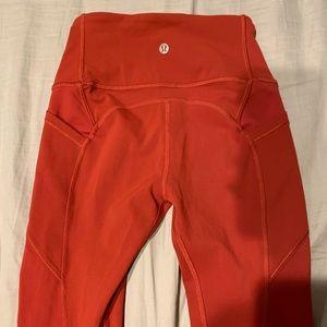 Lululemon Red Orange Legging